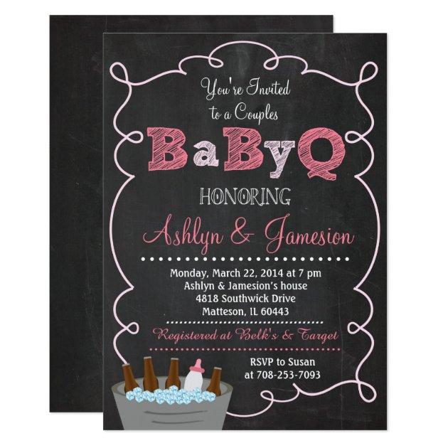 couples babyq bbq baby shower invitation | zazzle, Baby shower invitations