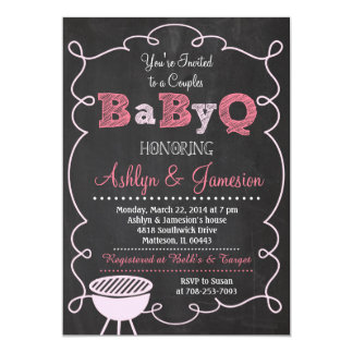 Couples BabyQ BBQ Baby Shower Invitation
