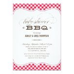 "Couple's BBQ Baby Shower Invitations 5"" X 7"" Invitation Card"