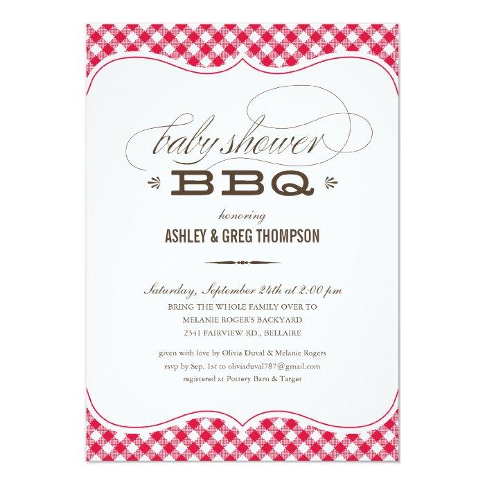 couple 39 s bbq baby shower invitations zazzle
