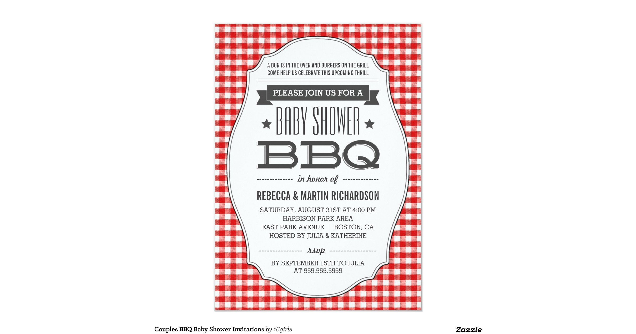 couples bbq baby shower invitations ree706fa96ee9461ca645e79a9896d9f2