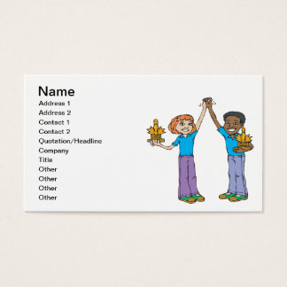 Couples Bowling Champions Business Card