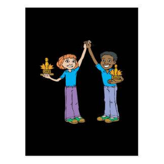Couples Bowling Champions Postcard