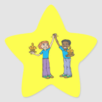Couples Bowling Champions Star Sticker
