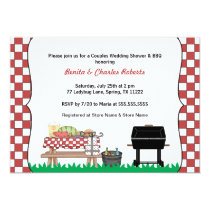 Couples Bridal or Wedding Shower & BBQ invite