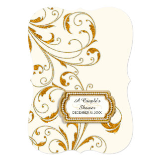 Couple's Bridal Shower Glam Old Hollywood Regency Custom Announcements