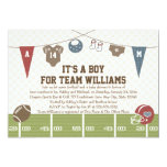 Couples Co-ed Football Baby Shower Invitations at Zazzle