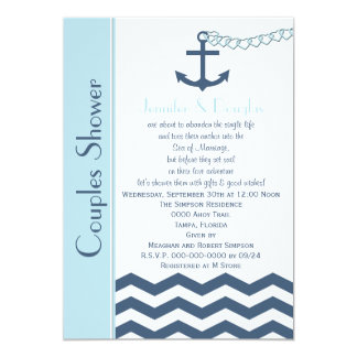Couples Coed Wedding Shower Invitation - Nautical