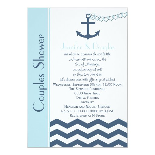 Nautical Wedding Shower Invitations for perfect invitations layout