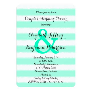 Couples Coed Wedding Shower Invitation Watercolor