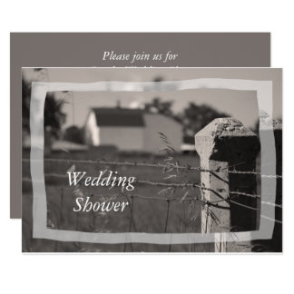 Couples Country Farm Wedding Shower Card