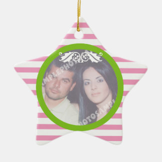 Couple's firs/1st Christmas wedding photo ornament