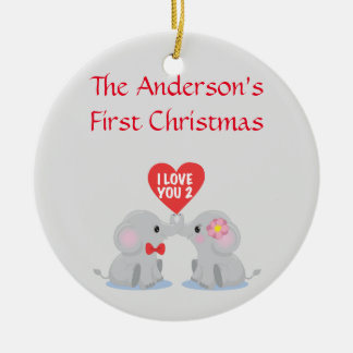 Couple's First Christmas Ceramic Ornament