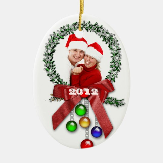 Couple's First Christmas PHOTO Ornament