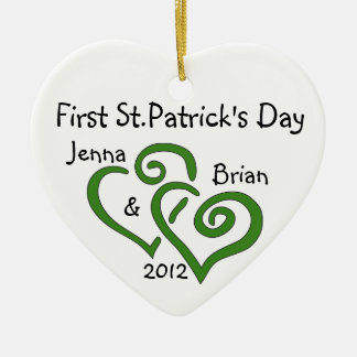 Couple's First St.Patrick's Day Ornament