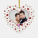Couple's First Valentine's Day Photo Ornament