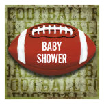 Couples Football Baby Shower Green Grunge Invites