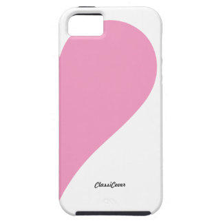 Couples Heart Pink White Left Case-Mate iPhone SE/5/5s Case