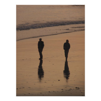 couples in walk photo print