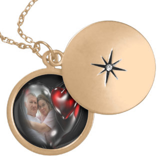 Couples Locket Necklace.