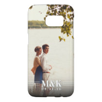 Couples Monogram Custom Photo Samsung Galaxy S7 Case