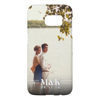 Couples Monogram Custom Photo Samsung Galaxy S7 Case