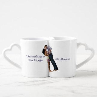 Couples Mug Set | We run on love & Coffee