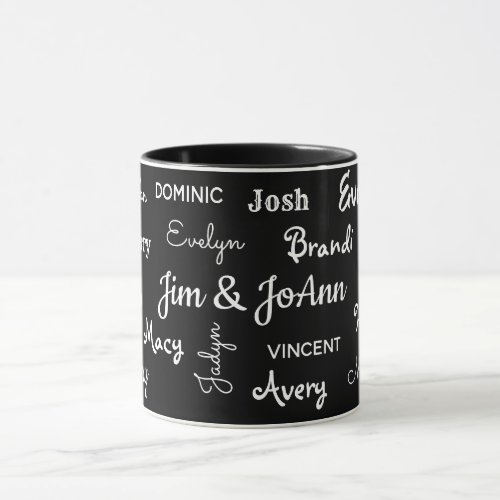 Couples Name wChildren  Grandchildren Names Mug