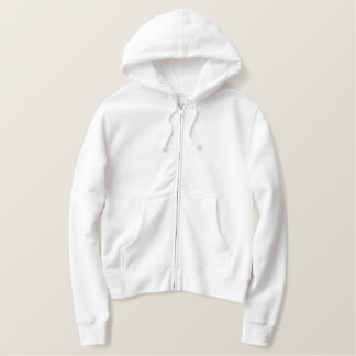 Couple's Names/Wedding Date (Roman Script) Embroidered Hoodie