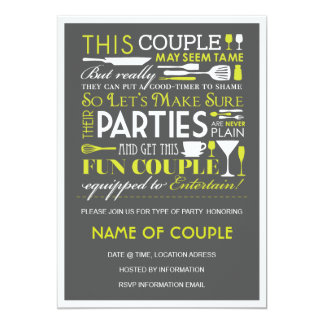 Couples Party 5x7 Paper Invitation Card