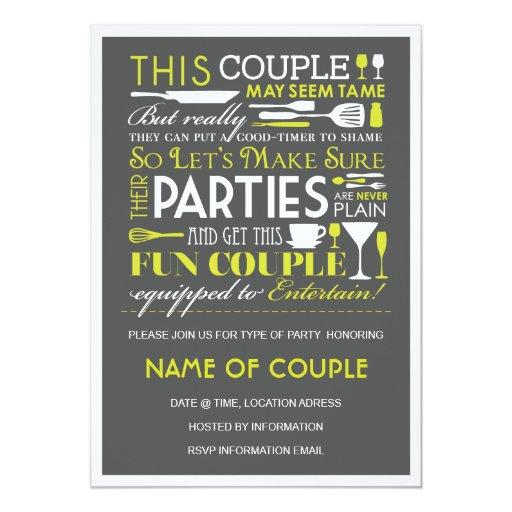 Couples Party Custom Invitations