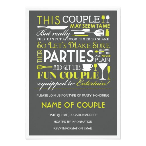 Couples Party Personalized Invites