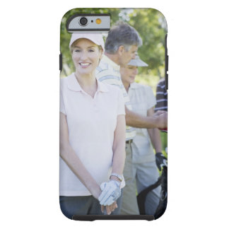 Couples preparing to play golf tough iPhone 6 case