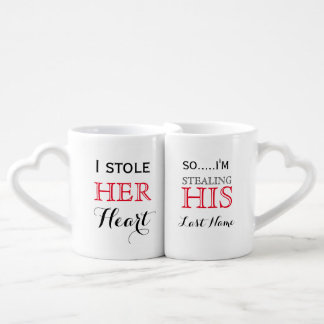 Couples Quote Lovers' Mug Set Couples' Coffee Mug Set