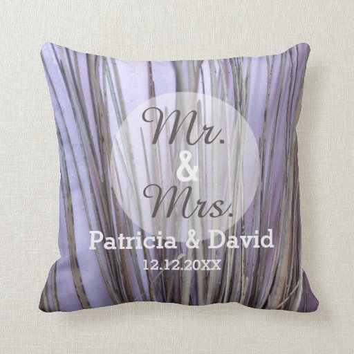 Couples Rustic Wedding Pillow : Mr.and Mrs.