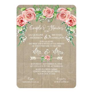 Couples Shower BOHO Flower Crown Babys Breath Barn Card
