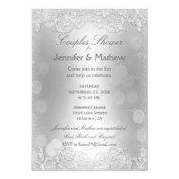 Couple's Shower | Elegant Silver Card