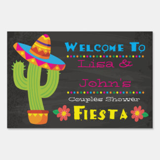 Couples Shower Fiesta Welcome Sign