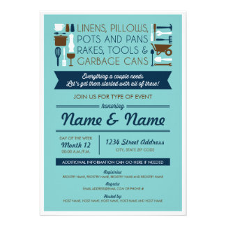 Couples Shower Invite gifts for around the house Personalized Announcement