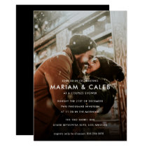 Couples Shower   Love Engagement Photo Card