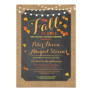 Couple's Shower Party Fall in Love Autumn Invite