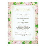 Couples Shower Pink Hydrangea Lace Floral Formal Personalized Invitation