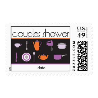 Couples Shower Postage Stamp