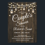 "Couple's Shower - Rustic Wood Invitation<br><div class=""desc"">Couple's Shower Invitation - Rustic Wood