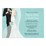 Couples Shower - Version 1 5x7 Paper Invitation Card