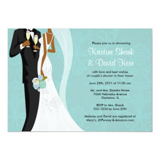 Couples Shower - Version 2 5x7 Paper Invitation Card