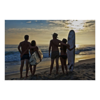 Couples Surfing - endless summer Poster