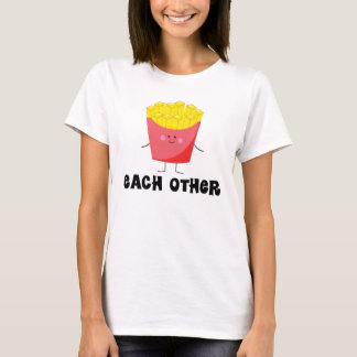 Couples T Shirt Made For Each Other Burger and Fry