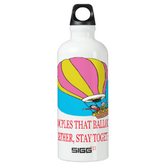 Couples That Balloon Together Aluminum Water Bottle