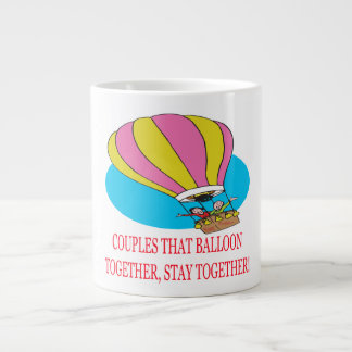 Couples That Balloon Together Large Coffee Mug